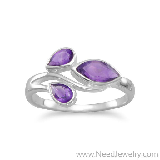 Pear and Marquise Amethyst Ring-Rings-Needjewelry.com