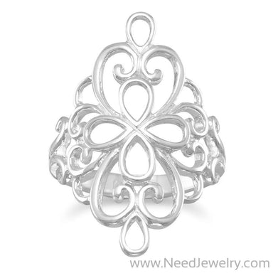 Polished Ornate Filigree Ring-Rings-Needjewelry.com