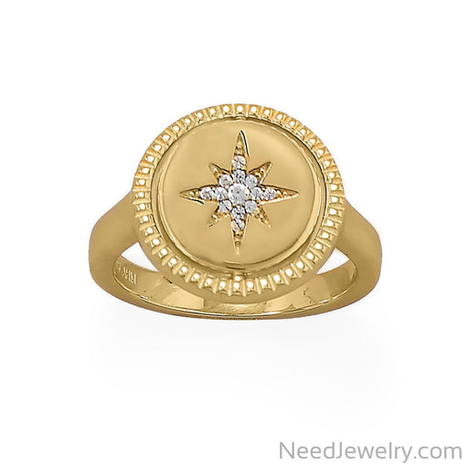 Item # [sku} - Reversible CZ Star and Moon Ring on NeedJewelry.com
