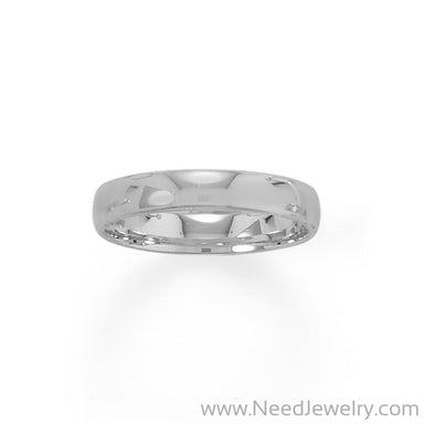 Rhodium Plated 4mm Band-Rings-Needjewelry.com