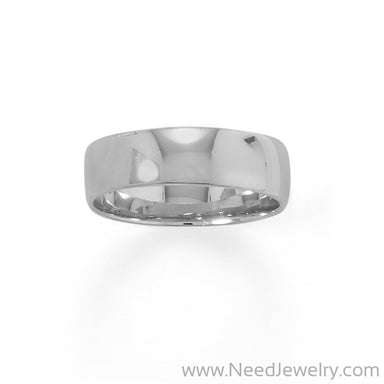 Rhodium Plated 6mm Band-Rings-Needjewelry.com