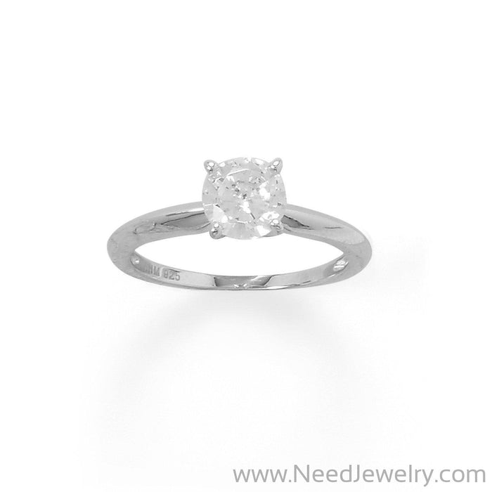Rhodium Plated 7mm CZ Band-Rings-Needjewelry.com