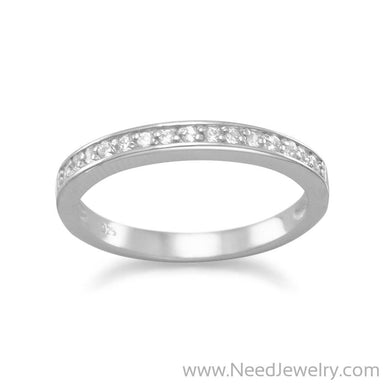 Rhodium Plated CZ Ring-Rings-Needjewelry.com