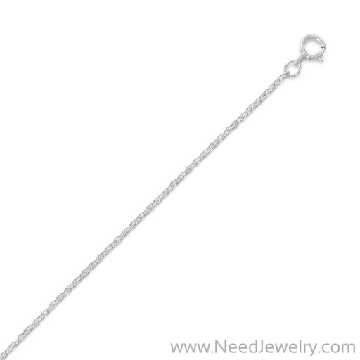 Rhodium Plated Light Rope Chain Necklace (1.1mm)-Chains-Needjewelry.com
