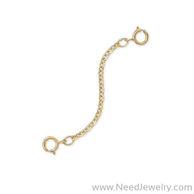 "14/20 Gold Filled 2"" Safety Chain (Set of 2)-Bracelets-Needjewelry.com"