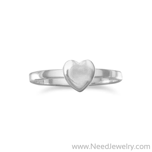 Small Polished Heart Ring-Rings-Needjewelry.com