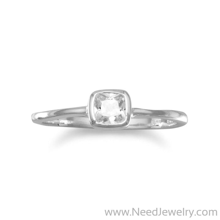 Square Clear CZ Ring-Rings-Needjewelry.com
