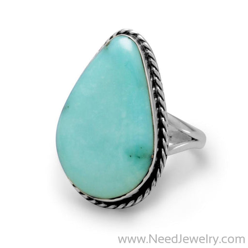 Stabilized Freeform Turquoise Ring-Rings-Needjewelry.com