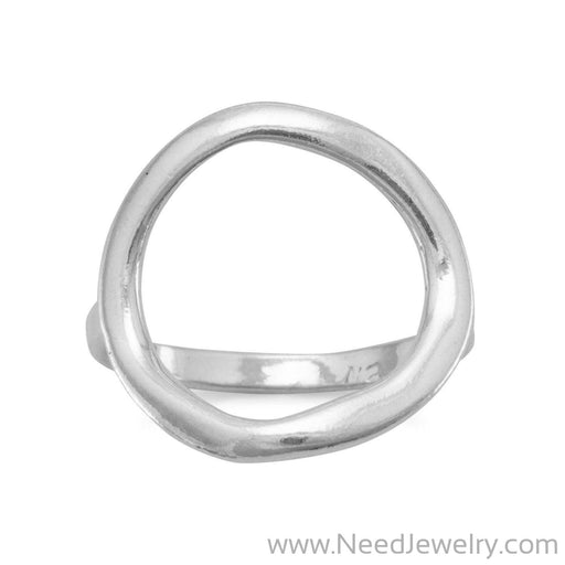 Textured Open Circle Ring-Rings-Needjewelry.com