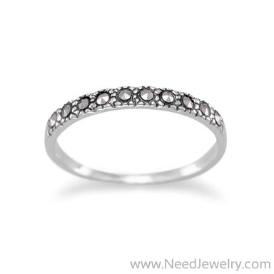 Thin Marcasite Band-Rings-Needjewelry.com