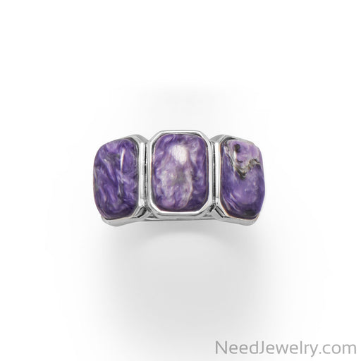 Item # [sku} - Three Times A Charm! Charoite Ring on NeedJewelry.com