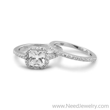 Two CZ Ring Set-Rings-Needjewelry.com