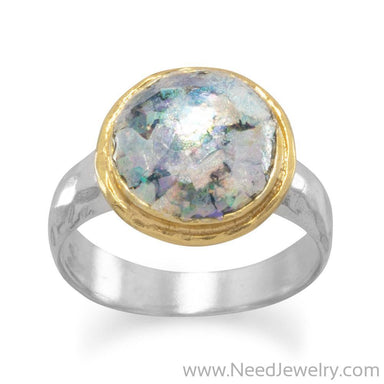 Two Tone Ancient Roman Glass Ring-Rings-Needjewelry.com
