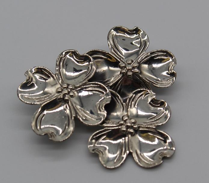 Vintage Pre-owned Sterling Dogwood Flower Brooch-Pins-Needjewelry.com