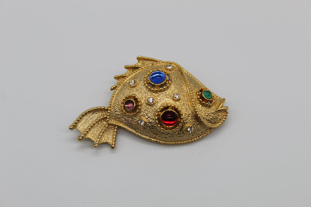Signed Pre-owned Vintage Fish Brooch-Pins-Needjewelry.com