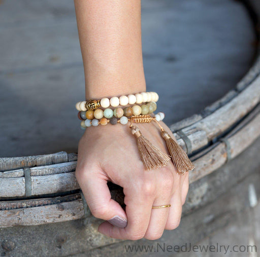 "8"" Fashion Stretch Bracelet with Buddha Bead-Bracelets-Needjewelry.com"