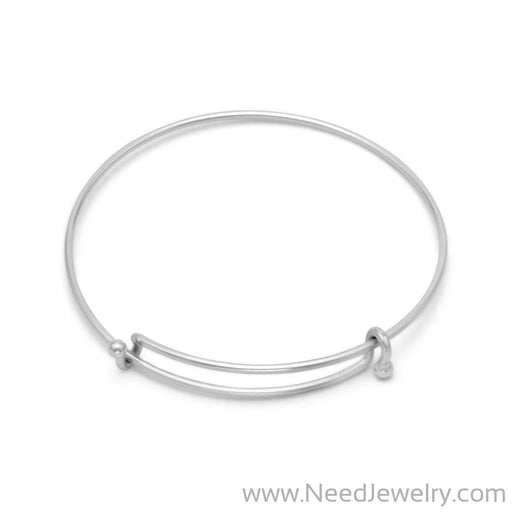 Silver Tone Expandable Wire Fashion Bangle-Bracelets-Needjewelry.com