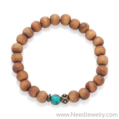 Wood Bead Fashion Stretch Bracelet-Bracelets-Needjewelry.com