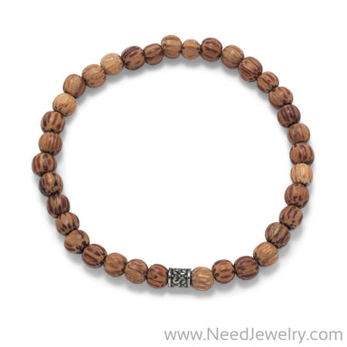 Palmwood Bead Fashion Stretch Bracelet-Bracelets-Needjewelry.com