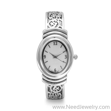 Oxidized Scroll Design Fashion Cuff Watch-Watches-Needjewelry.com