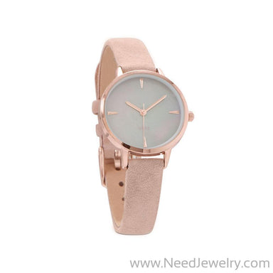 Blush Suede Rose Tone Fashion Watch-Watches-Needjewelry.com