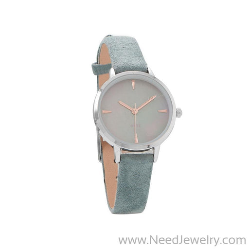 Teal Suede Fashion Watch-Watches-Needjewelry.com