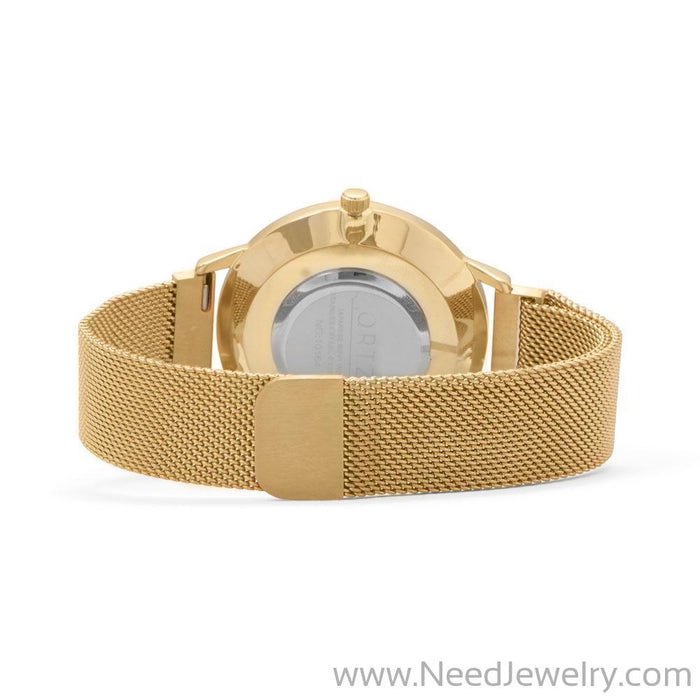 Gold Mesh Men's Magnetic Fashion Watch-Watches-Needjewelry.com