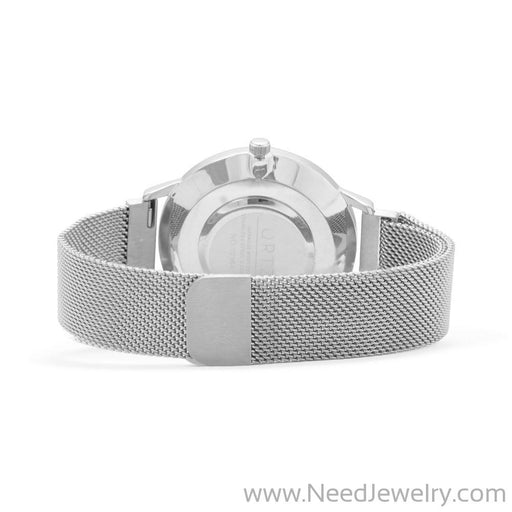 Silver Men's Mesh Magnetic Fashion Watch-Watches-Needjewelry.com