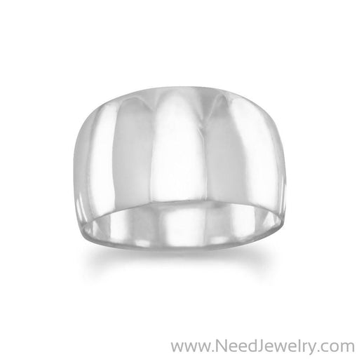 Wide Tapered Polished Ring-Rings-Needjewelry.com