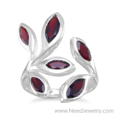 Wrap Around Garnet Ring-Rings-Needjewelry.com