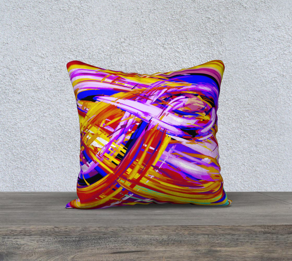 """RAINBOW"" DESIGNER PILLOW CUSHION 18 X 18"