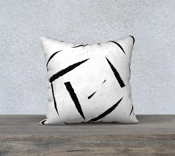 """BARE ESSENTIALS""  DESIGNER PILLOW CUSHION 18 X 18"
