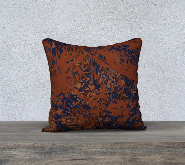 """AUTUMN FOLIAGE"" DESIGNER PILLOW CUSHION 18 X 18"