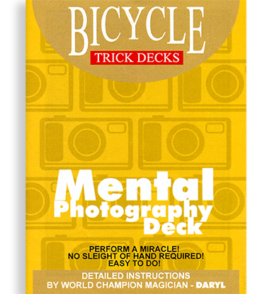 Mental Photography Deck (Bicycle) - Available at pipermagic.com.au