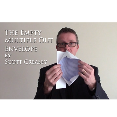 The Empty Multiple Out Envelope by Scott Creasey - Video DOWNLOAD - Available at pipermagic.com.au