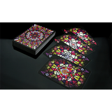 Bicycle Stained Glass Playing Cards by Collectable Playing Cards - Available at pipermagic.com.au