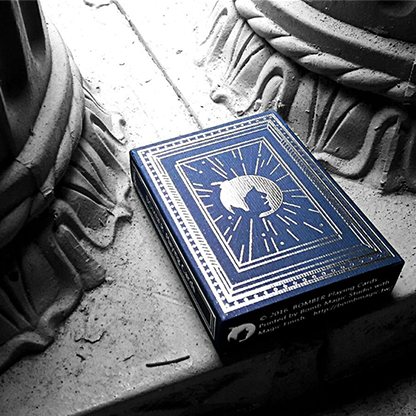 Blue Bomber Playing Cards (Marked) by BOMBMAGIC - Available at pipermagic.com.au