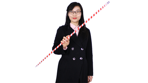Appearing Cane (Plastic, RED & WHITE STRIPED) by JL Magic - Available at pipermagic.com.au