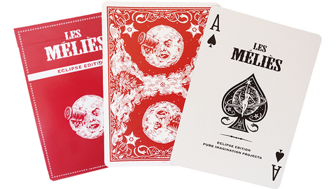 Les Méliés Red Eclipse Playing Cards by Pure Imagination Projects