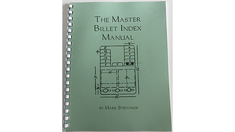 The Master Billet Index Package by Mark Strivings - Trick - Available at pipermagic.com.au