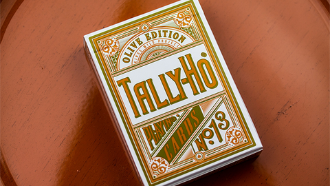 Olive Tally Ho no. 13 Playing Cards by Jackson Robinson - Available at pipermagic.com.au