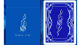 Treble Clef (Blue) Playing Cards