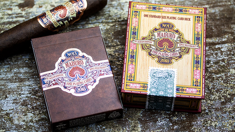 Maduro LIMITED Gold Edition Playing Cards by Kings Wild Project