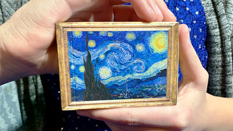 Limited Edition Gilded Vincent van Gough The Starry Night Playing Cards