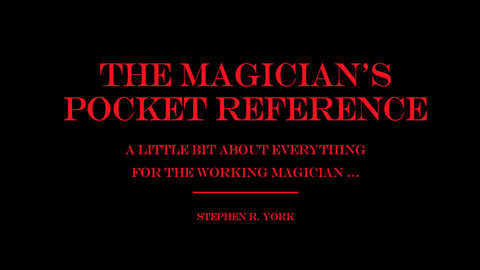 The Magician's Pocket Reference by Jorge Mena - Book - Available at pipermagic.com.au