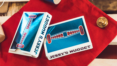 Vintage Feel Jerry's Nuggets (Blue Foil) Playing Cards - Available at pipermagic.com.au