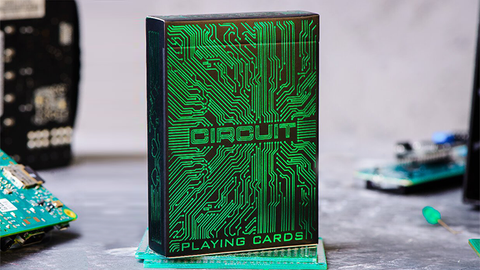 Circuit (Green) Playing Cards by Elephant Playing Cards - Available at pipermagic.com.au