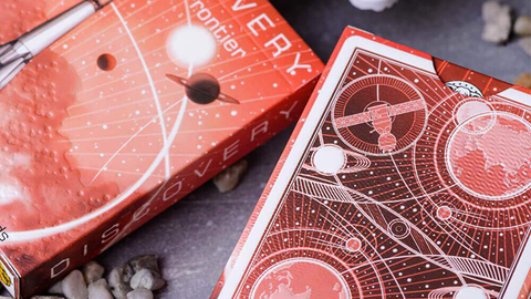 Discovery Final Frontier (Red) Playing Cards by Elephant Playing Cards - Available at pipermagic.com.au