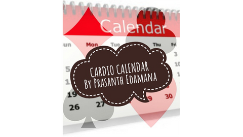 Cardio Calendar by Prasanth Edamana Mixed Media DOWNLOAD - Available at pipermagic.com.au