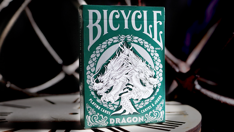 Bicycle Dragon Playing Cards (Green) by USPCC - Available at pipermagic.com.au